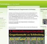 Gregorianmarkt Mittelalterspectaculum zu Schöneberg