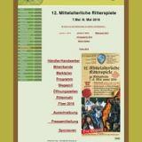 12. Mittelalterliche Ritterspiele zum Rittermahl am 26.5. ist eine Anmeldung notwendig